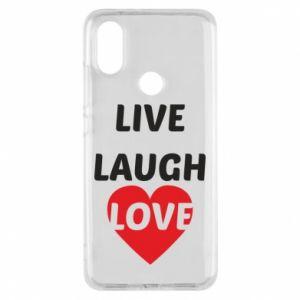Etui na Xiaomi Mi A2 Live laugh love