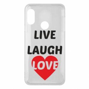 Etui na Mi A2 Lite Live laugh love