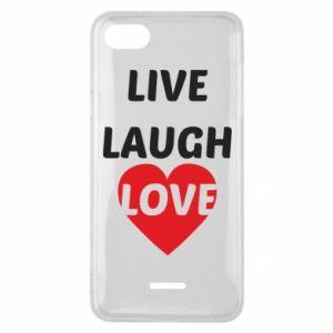 Etui na Xiaomi Redmi 6A Live laugh love