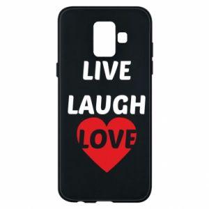 Etui na Samsung A6 2018 Live laugh love