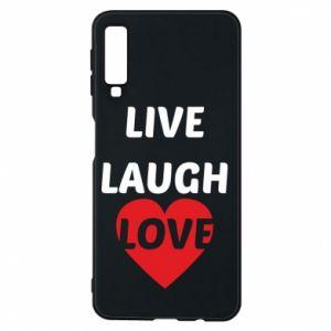 Etui na Samsung A7 2018 Live laugh love