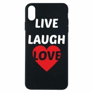 Etui na iPhone Xs Max Live laugh love