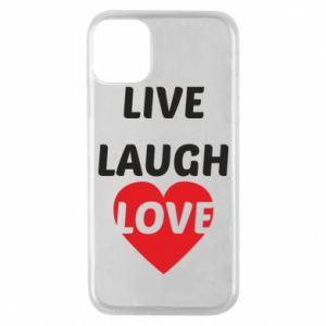 Etui na iPhone 11 Pro Live laugh love