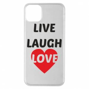 Etui na iPhone 11 Pro Max Live laugh love
