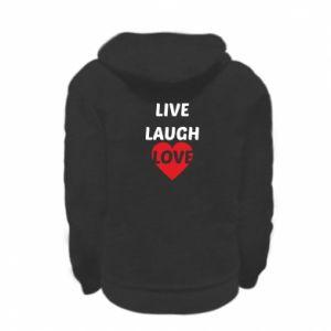 Bluza na zamek dziecięca Live laugh love