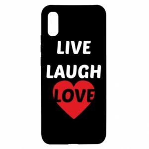 Etui na Xiaomi Redmi 9a Live laugh love