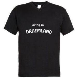 Męska koszulka V-neck Living in Draemland