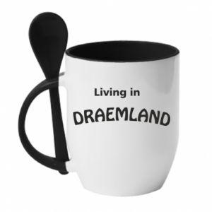 Kubek z ceramiczną łyżeczką Living in Draemland