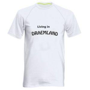 Męska koszulka sportowa Living in Draemland