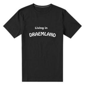 Męska premium koszulka Living in Draemland