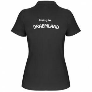 Koszulka polo damska Living in Draemland