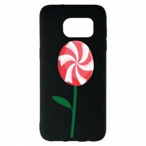 Etui na Samsung S7 EDGE Lizak - kwiat