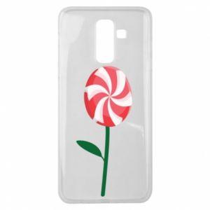 Etui na Samsung J8 2018 Lizak - kwiat
