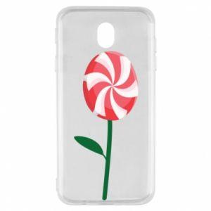 Etui na Samsung J7 2017 Lizak - kwiat