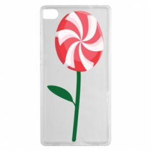 Etui na Huawei P8 Lizak - kwiat