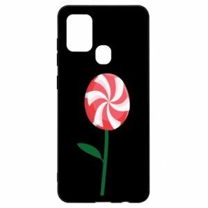 Etui na Samsung A21s Lizak - kwiat