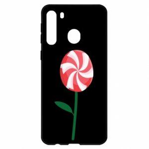 Etui na Samsung A21 Lizak - kwiat