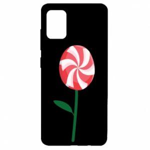 Etui na Samsung A51 Lizak - kwiat