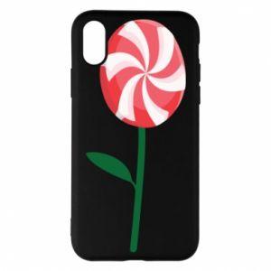 Etui na iPhone X/Xs Lizak - kwiat