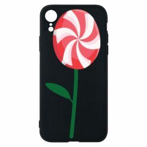 Etui na iPhone XR Lizak - kwiat