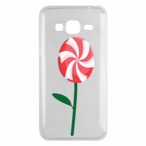 Etui na Samsung J3 2016 Lizak - kwiat