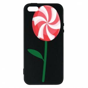 Etui na iPhone 5/5S/SE Lizak - kwiat