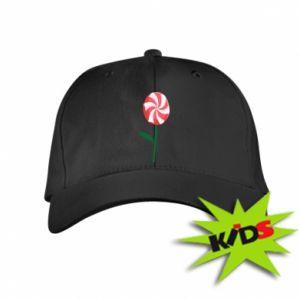 Dziecięca czapeczka z daszkiem Lizak - kwiat - PrintSalon