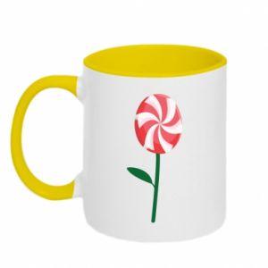 Kubek dwukolorowy Lizak - kwiat - PrintSalon