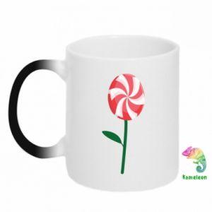 Kubek-kameleon Lizak - kwiat