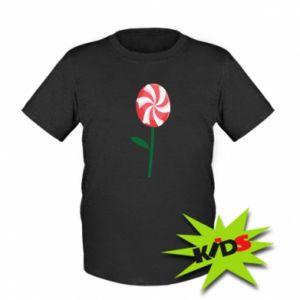 Dziecięcy T-shirt Lizak - kwiat