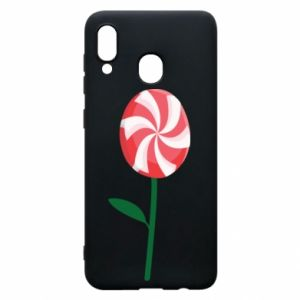 Etui na Samsung A20 Lizak - kwiat