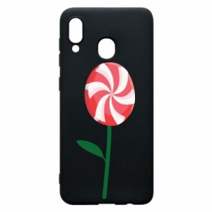 Etui na Samsung A30 Lizak - kwiat