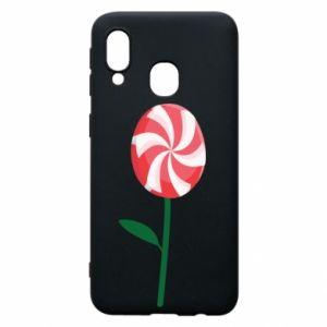 Etui na Samsung A40 Lizak - kwiat