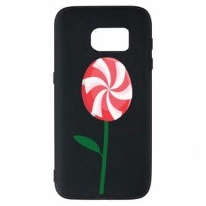 Etui na Samsung S7 Lizak - kwiat
