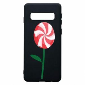 Etui na Samsung S10 Lizak - kwiat
