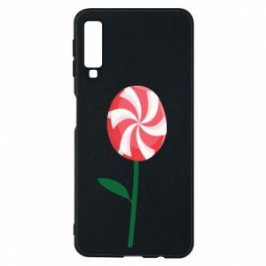 Etui na Samsung A7 2018 Lizak - kwiat