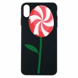 Etui na iPhone Xs Max Lizak - kwiat