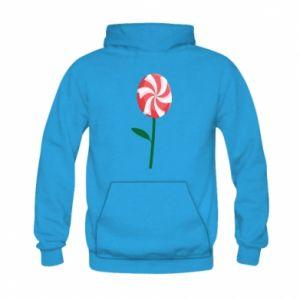 Bluza z kapturem dziecięca Lizak - kwiat
