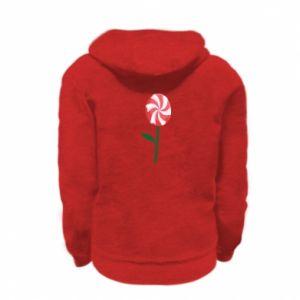 Bluza na zamek dziecięca Lizak - kwiat