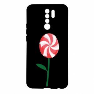 Etui na Xiaomi Redmi 9 Lizak - kwiat