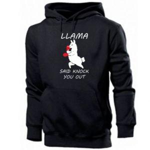 Męska bluza z kapturem Llama knockout