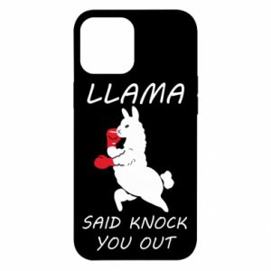 iPhone 12 Pro Max Case Llama knockout