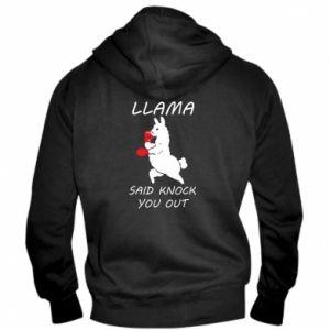 Męska bluza z kapturem na zamek Llama knockout