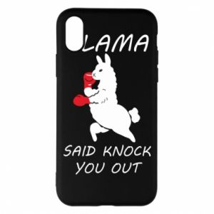Etui na iPhone X/Xs Llama knockout