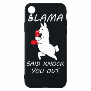 Etui na iPhone XR Llama knockout
