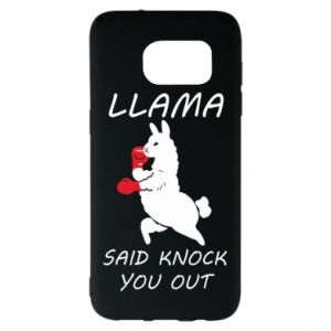 Samsung S7 EDGE Case Llama knockout