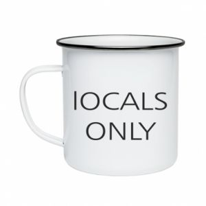 Kubek emaliowany Locals only