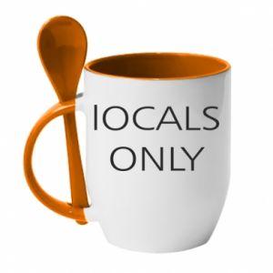 Kubek z ceramiczną łyżeczką Locals only