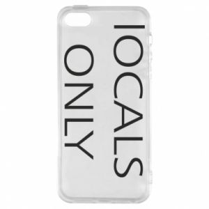 Etui na iPhone 5/5S/SE Locals only