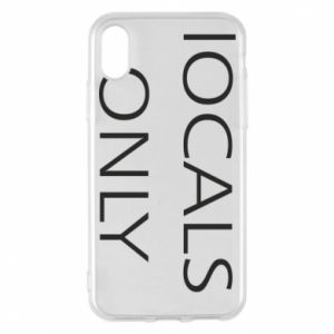 Etui na iPhone X/Xs Locals only